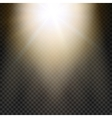 Natural sun Yellow light effect Sun rays sun vector image