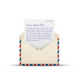 open vintage air mail envelope icon vector image