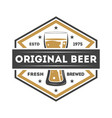 original beer vintage isolated label vector image