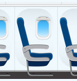 passesnger airplane seat templaye vector image vector image