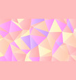 pastel bright yellow and pink low poly backdrop vector image vector image