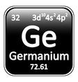 Periodic table element germanium icon vector image vector image