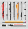realistic office stationery isolated vector image vector image