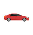 red sedan car icon in flat design vector image vector image