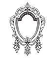 renaissance strap-work frame was oval shape vector image vector image