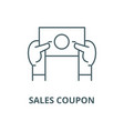 sales coupon line icon linear concept vector image vector image