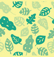 seamless background green jungle leaves vector image vector image