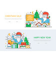seasonal discount - line design style vector image vector image