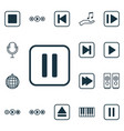 set of 16 music icons includes mute song piano vector image vector image
