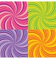 Shiny abstract background - orange green pink and vector image vector image