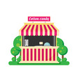 shop cotton candy flat vector image