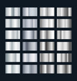 silver metal gradient collection chrome vector image vector image