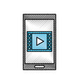 Smartphone and video movie play social media