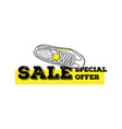 sneaker sale special offer isolated vector image vector image