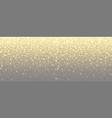 sparkling golden glitter on transparent vector image
