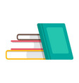 stack books knowledge and information symbol vector image vector image