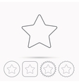 Star icon Web favorite sign vector image vector image