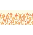 Summer ice cream cones horizontal seamless pattern vector image vector image