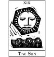 Sun Tarot Card vector image vector image