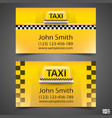 taxi business card vector image vector image