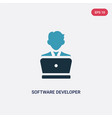 two color software developer icon from vector image vector image