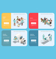 veterinary animal care isometric concept vector image vector image