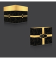 VIP box with gold lid and vintage backgroundtwo vector image