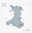 wales infographic map vector image