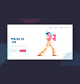 water delivery company employee website landing vector image vector image