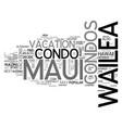 what are wailea maui condos text word cloud vector image vector image