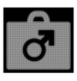 white halftone potence tools icon vector image