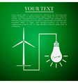 Wind mill turbine generating power energy and vector image vector image