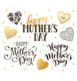 happy mothers day phrases vector image