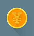 flat abstract japanese yen symbol icon vector image