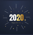 2020 new year happy eve party background 2020 vector image