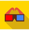 3D glasses icon in flat style vector image