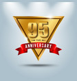 95 years anniversary celebration logotype vector image vector image