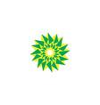 abstract sun star solar logo abstract circle vector image