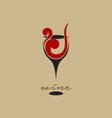 Abstract wine logo vector image