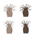african iconic tree baobab set adansonia gregorii vector image vector image