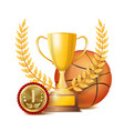 basketball award sport banner background vector image vector image