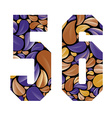Beautiful floral numbers 5 and 6 vector image