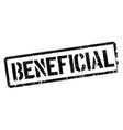 beneficial stamp on white vector image vector image