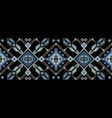 bohemian fashionable seamless ornament in ethnic vector image vector image
