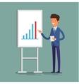 Business concept Cartoon businessman vector image vector image