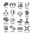 business management icons pack 34 vector image vector image
