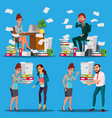 business people doing paperwork office vector image vector image