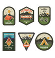 camping club vintage logo set isolated vector image
