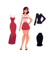 cartoon woman apparel set vector image vector image