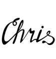 chris name lettering vector image vector image